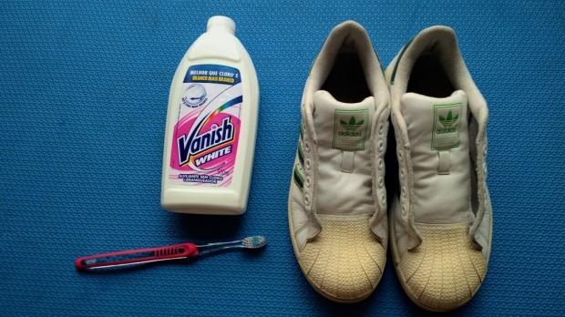 88d5c4631f4 DIY  Como tirar o amarelado do tênis Adidas SuperStar – Meio Casual